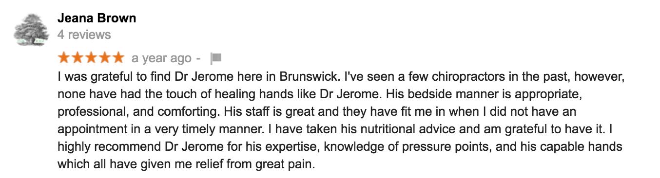 Chiropractor Reviews in Brunswick