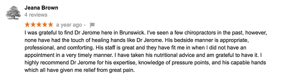 Chiropractor Reviews in Brunswick