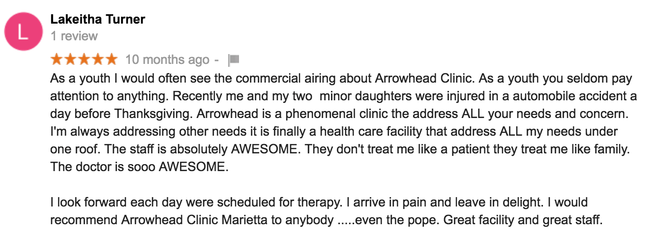 Well Reviewed Chiropractic Clinic in Marietta