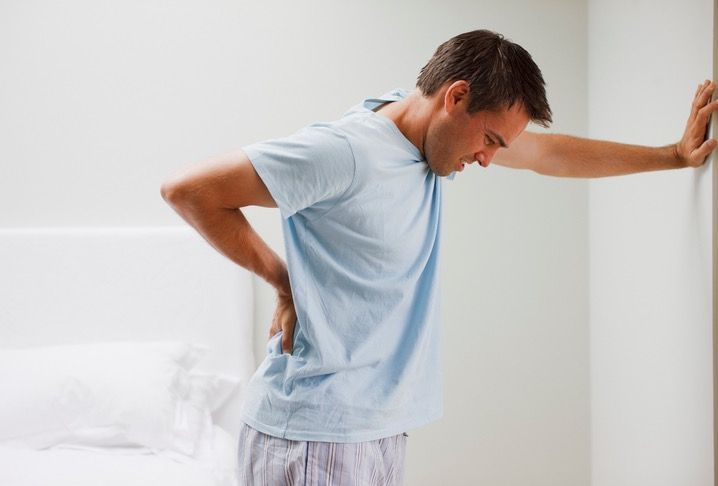 Man with Back Pain After Seeing a Chiropractor