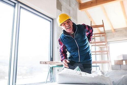 Hurt Construction Worker on the job