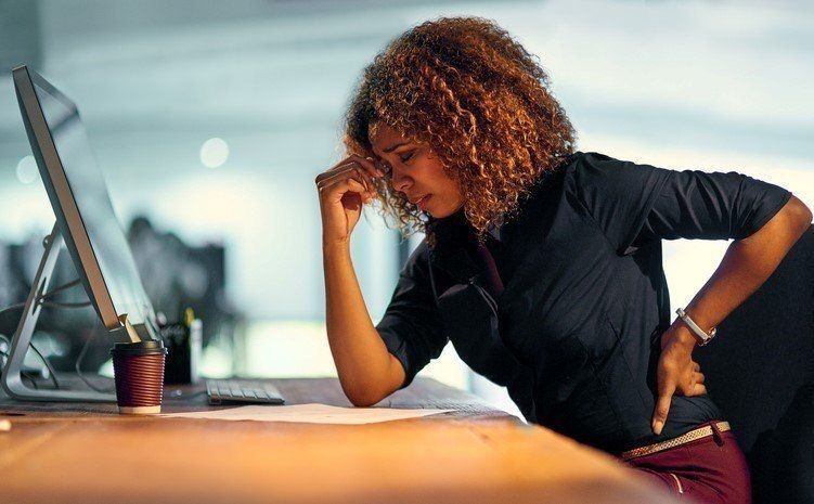 Low back pain from sitting to long at work