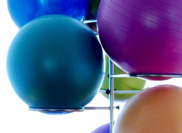 Use an exercise ball instead of an office chair.