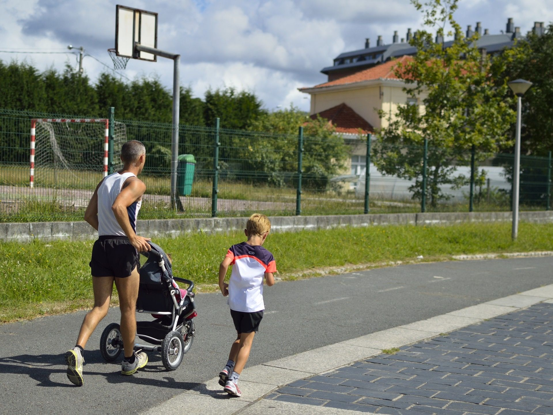 Exercise and outdoor activity is a great way to bond with your family.