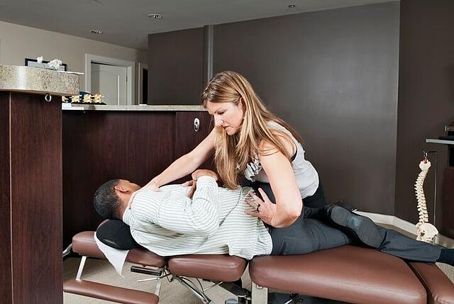 Atlanta Chiropractor adjusting a patient with low back pain