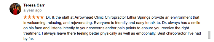Top Rated Lithia Springs Chiropractor